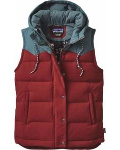 Patagonia Patagonia Bivy Hooded Down Vest - Women's Drumfire Red, S ShapeShop