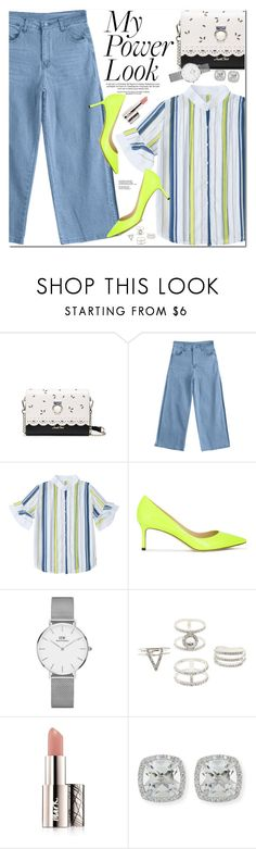 """""""My Power Look"""" by oshint ❤ liked on Polyvore featuring Jimmy Choo, Daniel Wellington, Charlotte Russe, Avon and Frederic Sage"""