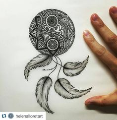 #Repost @helenalloretart One of the Tattoo Designs I made a few months ago A mix…