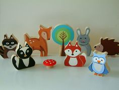 woodland animal - wood toy set