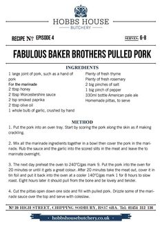 The Fabulous Baker Brothers: Pulled Pork - Hobbs House Bakery - Episode 4 Pork Recipes, Cooking Recipes, Bakery Supplies, Pork Dishes, Everyday Food, Hobbs, Pulled Pork, Brother, Stuffed Peppers