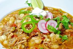 Posole soup for cold