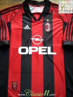 Relive AC Milan's 1998/1999 season with this original Adidas home football shirt.