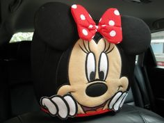 Minnie Mouse Car Accessory #Red : 1 piece Head Rest Cover - I have these in my little red convertible whose name is Minnie!
