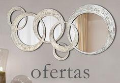 Ofertas en espejos modernos y de cristal. Espejos decorativos para decorar al alcance de tu mano en: https://www.artedismuebles.com/25-outlet