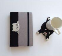 Baykuş Figürlü Keçe Şirin Kitap Kılıfı Keçe ve kumaş kombinasyonlu, üzerinde baykuş figürü olan kullanışlı şirin kitap.... 375118
