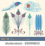 feather frame vector set - Google Search