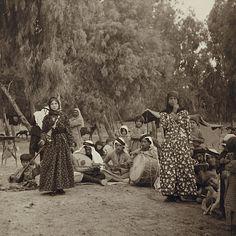 Gypsies in Damascus, Syria, circa 1900s.