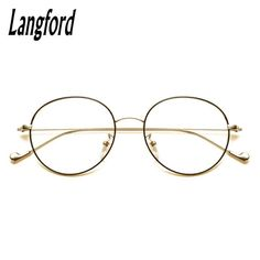 7aac74bdcee Langford brand vintage round optical frames big hipster glasses Slim light  round…  BlackFriday is