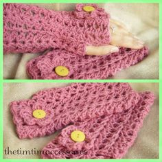 Handmade crocheted finger less mittens.  https://www.etsy.com/shop/CrochetAllHeadtoToe?page=1 https://www.facebook.com/pages/thetimtimaccessories/577535355685522?ref=bookmarks