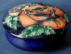 Moorcroft Pottery Rosebud 223/4 Rachel Bishop
