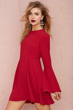 Bell Raiser Crepe Dress | Nasty Gal