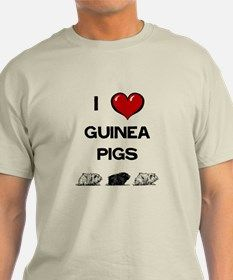 I Love Guinea Pigs T-Shirt for