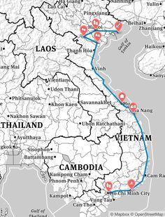 Viele haben uns nach der Reiseroute unserer Vietnam-Reise 2014 gefragt. Wir haben in drei Wochen das Land von Norden nach Süden durchquert: