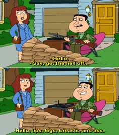 Family Guy - ) Quotes Vol 4 Tv Show Family, Family Guy Quotes, Seth Macfarlane, The Gr, Old School, Tv Shows, Animation, Comics, Lips