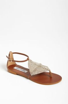 "My summer shoe: Steve Madden 'Shineyy' Sandal available at #Nordstrom Your ""Works w Jeans to Maxi Skirts"" Sandal"