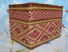 Поделка изделие Плетение Коробушки узорные  Трубочки бумажные фото 2