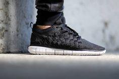 Nike Free OG 14 Woven–Black-Black-Cool Grey-White-1