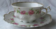 pink roses cup and saucer