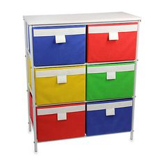 Add a pop of color to your decor with this Storage Stand by Household Essentials®. Designed with easy-to-access bins, this versatile stand allows for a variety of arrangements to meet your storage needs. Wood Storage Sheds, Storage Shed Plans, Storage Shelves, Locker Storage, 8x10 Shed, 8x12 Shed Plans, Drawer Cart, Closet Organization, Bedding Shop