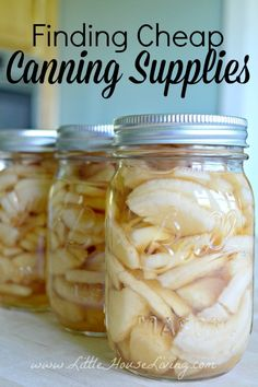 Cheap Canning Supplies...where to find them so canning doesn't break the budget this year!