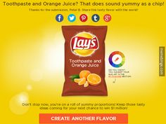 A worthy submission for the Lay's flavor contest