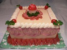Slaný s muchomůrkou Cake, Desserts, Food, Tailgate Desserts, Deserts, Kuchen, Essen, Postres, Meals