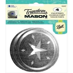 Loew Cornell-Transform Mason Ball Lid Inserts: Star. Easily transform regular mouth jars into potpourri vessels or other decorative uses. Replaces existing lid insert. This package contains four 2-3/4 inch mason ball lid inserts.