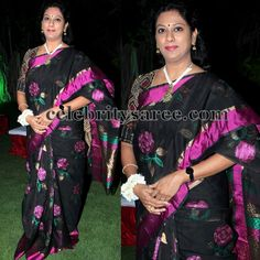 Black Purple Uppada Saree | Saree Blouse Patterns