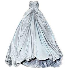 Butterfly Taffeta Strapless Princess Gown
