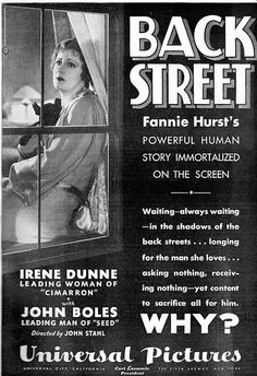 5/16/14  10:32a  Universal Pictures   ''Back Street''     Irene Dunne  1932         Flickr - Photo