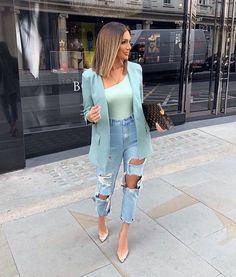 Super Stylish Fall Fashion Ideas for Women Blazer Fashion, Fashion Outfits, Fashion Trends, Fashion Ideas, Luxury Fashion, Womens Fashion, Classy Outfits, Stylish Outfits, Mode Instagram