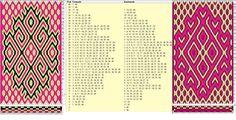 Enhebrado opuesto, movimientos coincidentes // 40 tarjetas, 3 colores // sed_922 &sed_922a diseñado en GTT༺❁