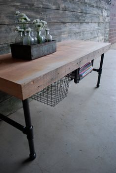Another sweet little table. From Urban Woods Goods.