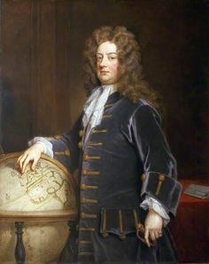 Earl Big Wig! Admiral Edward Russell (1652–1727), 1st Earl of Orford, 1710, by Godfrey Kneller. In 1692 Russell commanded the Anglo-Dutch fleet at the five-day Battle of Barfleur and the destruction of the French fleet at La Hogue following the action, thus halting Louis IV's invasion plans.