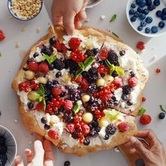 Ricotta, Clean Recipes, Healthy Recipes, Healthy Food, Food N, Food And Drink, Pizza Fruit, Sans Gluten, Vegetable Pizza