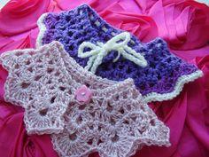 Mini-Me Crochet Party Collars - via @Craftsy just like Mum's!!!