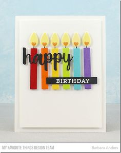 Stamps: Make a Wish, Gift Card Greetings Die-namics: Birthday Candles, Cause for Celebration, Gift Card Grooves, Stitched Fishtail Sentiment Strips, Blueprints 27 Barbara Anders #mftstamps