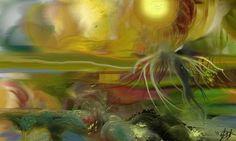 Zone intermédiaire - Digital Arts ©2014 par Gabriela Simut -  Arts numériques, Peinture numérique, Peinture numérique Art Original, Oeuvre D'art, Arts, Les Oeuvres, Digital Art, Art Gallery, Painting, Impressionism, Landscape