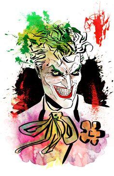 Joker  Print by KineticPress on Etsy, $20.00