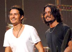 Johnny Depp and Orlando Bloom <3