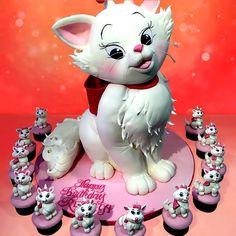 Girl cat cake - Cake by House of Cakes Dubai