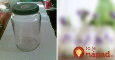 Úžasný tip, ako premeniť obyčajný pohár na zaváranie na niečo skutočne výnimočné! :-)
