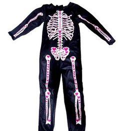 Przebranie strój na bal karnawał szkielet na 140 cm http://dzieciociuszek.pl/products/37752
