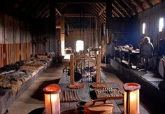 Longhouse of the Viking Museum in Ribe, Denmark.