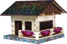 Set de constructie din lemn - Cabana alpina – Walachia. Produs recomandat copiilor cu varsta peste 8 ani. Acceseaza link-ul sau comanda prin email la adresa comenzi@dmkids.ro. Cod produs DMK12648, pret  70,00 lei