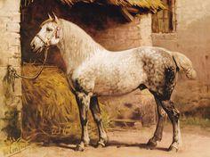 De Percheron - schilderij van Otto Eerelman