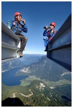 Wow this made my stomach flip. No matter how hard I try I can't shake my fear of heights! Spectacular view of Rocky Mountain High, British Columbia, Canada.