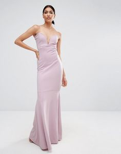 Missguided | Missguided Bandeau Fishtail Maxi Dress