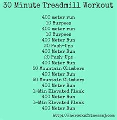 HARD treadmill workout from She Rocks Fitness - click for 6 more workouts